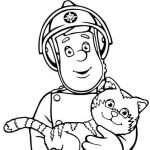 消防士サムの着色ページ