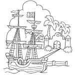 海賊ぬりえ
