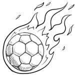 サッカーの着色ページ