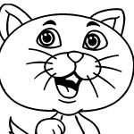 猫の着色ページ