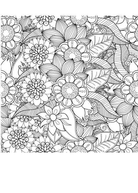 Ausmalen blumen zum bilder kostenlos Blumen Bild