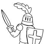 Desenhos de Cavaleiros para colorir