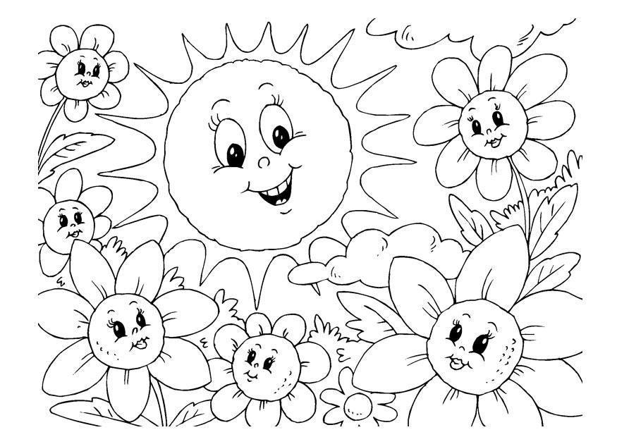 Sommer Ausmalbilder Kostenlos Malvorlagen Windowcolor Zum Drucken
