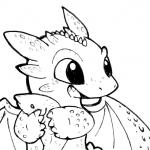 Desenhos de Dragão para colorir