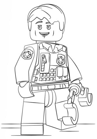 Mann zum ausmalen lego Lego Polizei