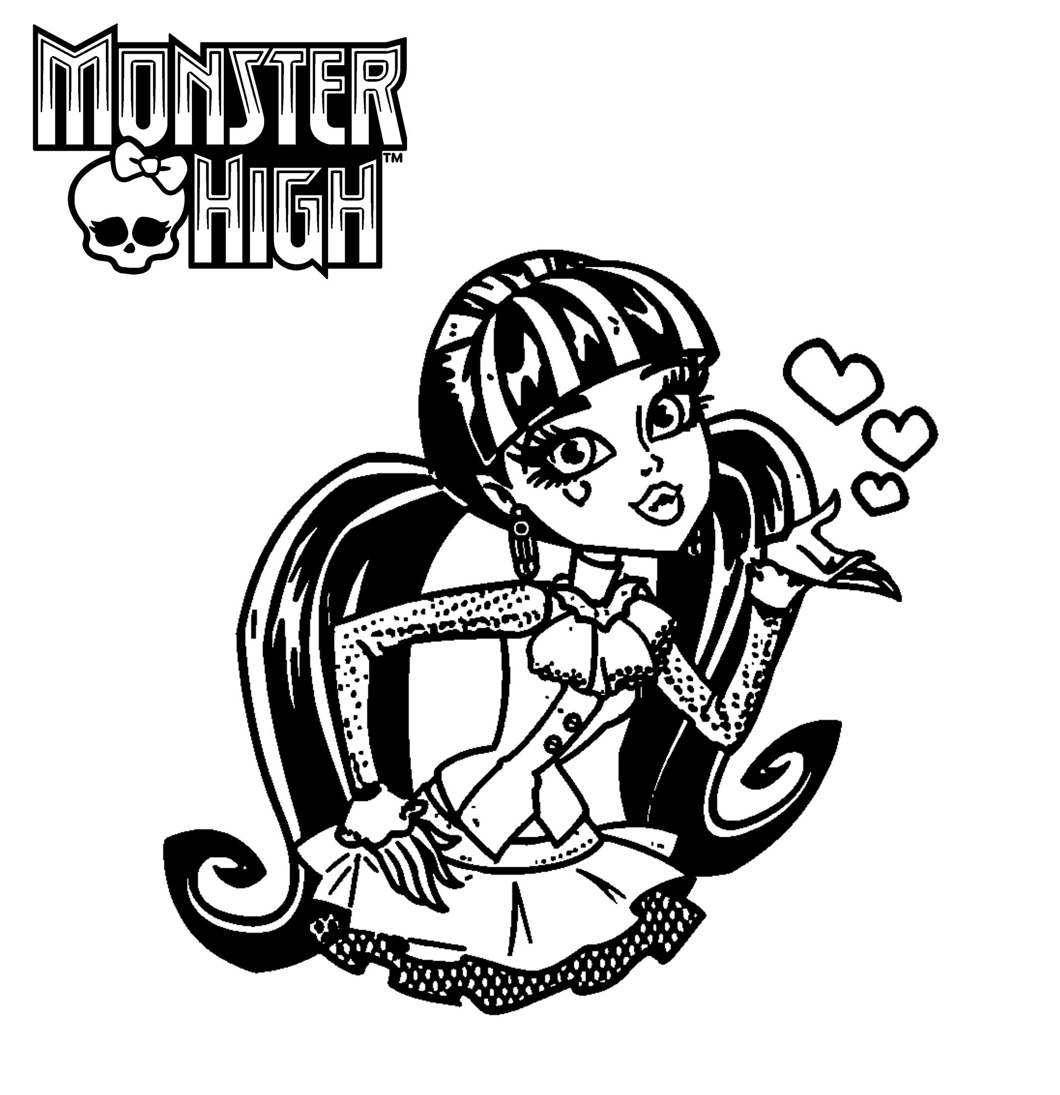 Monster High Ausmalbilder Kostenlos Malvorlagen Windowcolor Zum Drucken