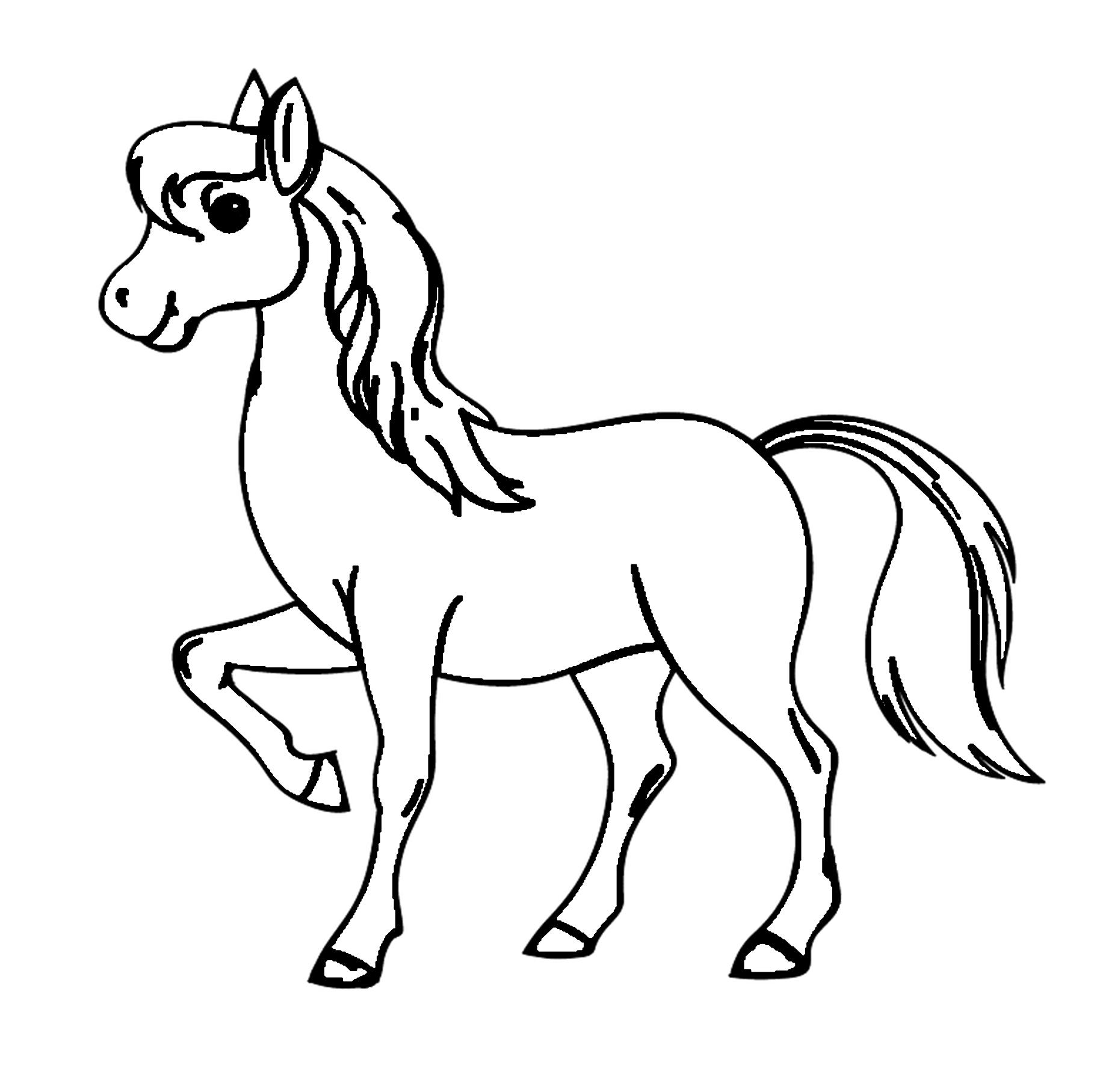 Pferde Ausmalbilder Kostenlos Malvorlagen Windowcolor zum ...