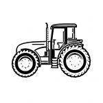23 раскраски трактора