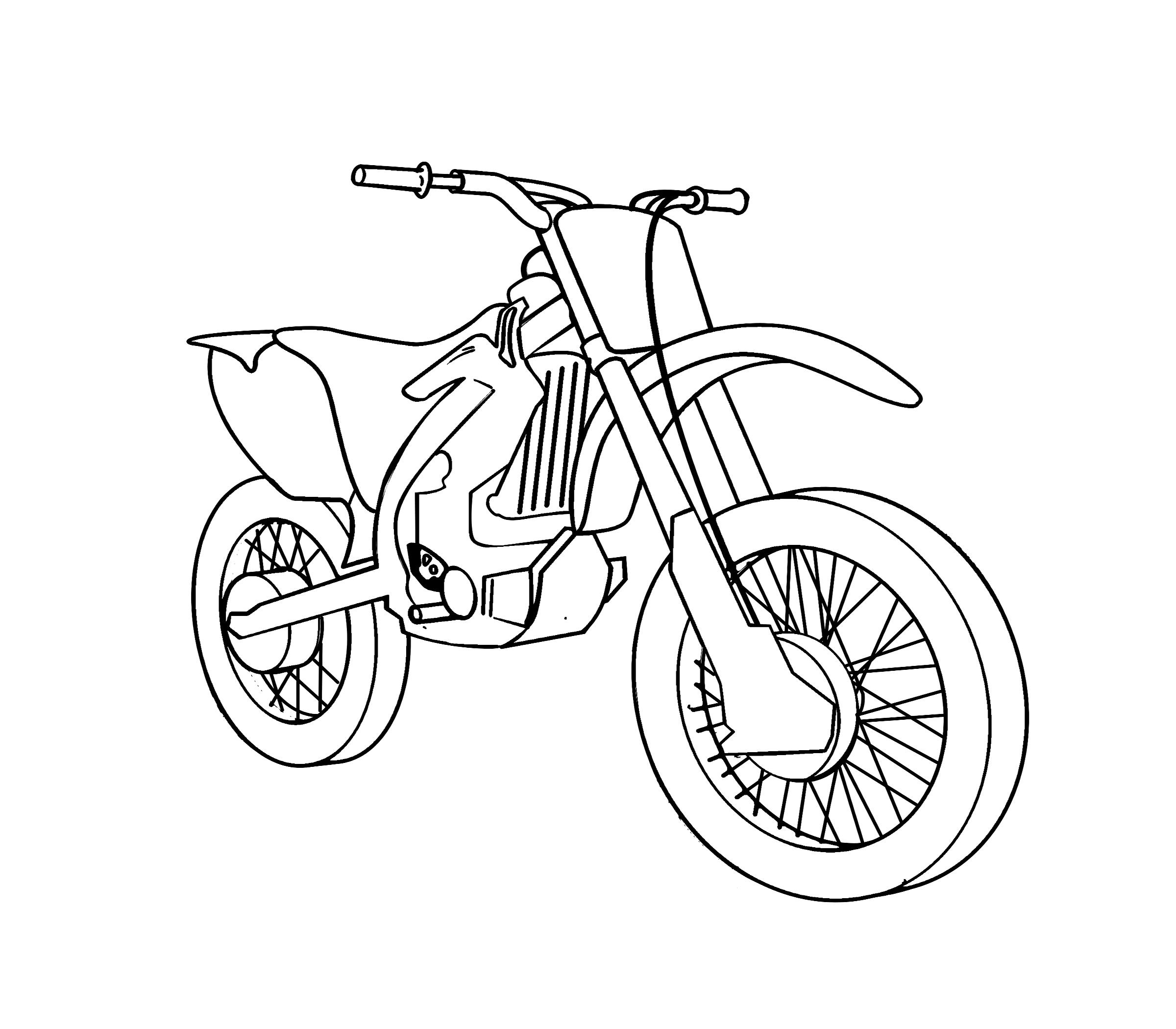 Motorrad Ausmalbilder Kostenlos Malvorlagen Windowcolor zum Drucken