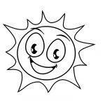 Desenhos de Sol para colorir