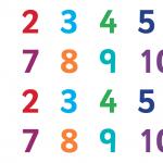 Zählung der Zahlen 1-10 Aktivität für Kinder